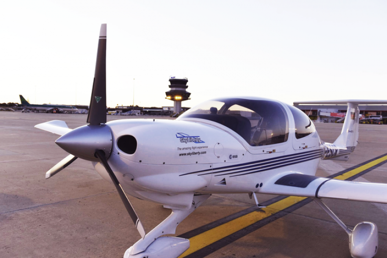 The SkyLiberty device enables pilots to plan their flights and to adjust the plans in real time