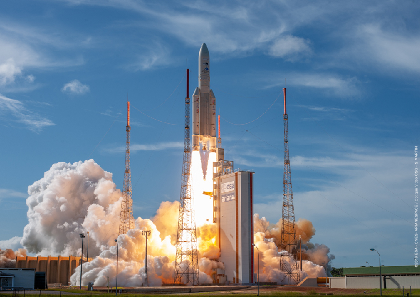 The EDRS-C satellite was launched aboard an Ariane 5