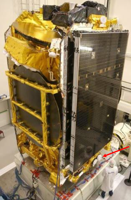 The P-DPS being assembled on the satellite. Image credit: Airbus Defence and Space