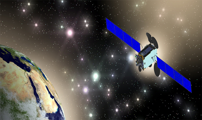 Artist's rendition of Es'hail-2. Image credit: Qatar Satellite Company