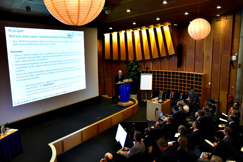 It was standing room only at ESA's recent ScyLight event.